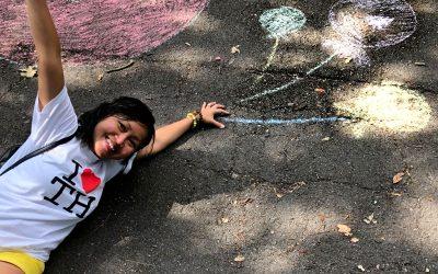 Chalk path at Grangewood Park